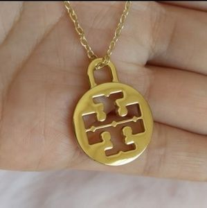 Tory Burch Jewelry - Tory Burch Logo Pendant Gold Plated Necklace New